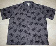Hawaiian Shirt #29 Gray palm tree (100% polyester)