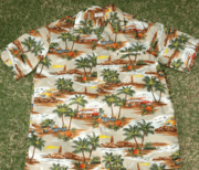 Hawaiian Shirt 100% Polyester. #31 Brown Woody