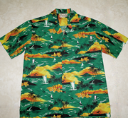 Hawaiian Shirt<br> #33 Sunset Green