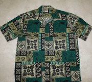 Hawaiian Shirt #52 Turtle green M- 2XL
