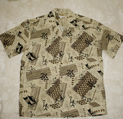 Hawaiian Shirt #59 Turtle Brown M-2XL