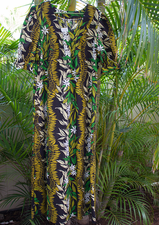 Long Muumuu<br>Black flower