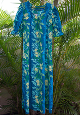 Long Muumuu<br> Blue flower
