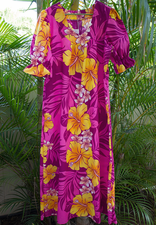 Long Muumuu<br>Purple Pink flower