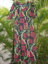 Long Muumuu<br> Red flower