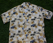 Rayon Hawaiian Shirt<br>#9 Woody Khaki 2XL