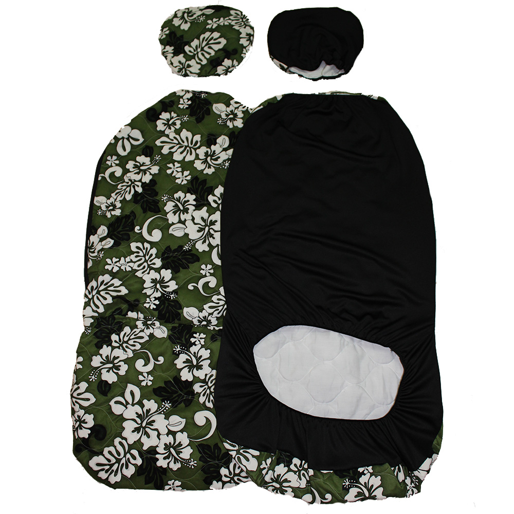 Separated headresthawaii car seat cover16 green white flower separated headrest car seat cover green white flower quilted izmirmasajfo