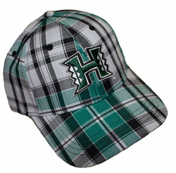UH Warriors hats<br>Forest Green Tartan caps