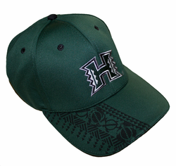UH Warriors hats<br>Green