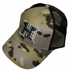 UH Warriors hats<br>Camo green caps