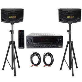 "Acesonic AM-200 960W Bluetooth Amp & BMB CSN-300 8"" Speaker System"