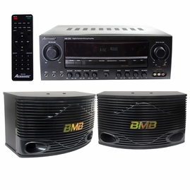 "Acesonic AM-200 960W Bluetooth Amp & BMB CSN-500 10"" Speaker System"