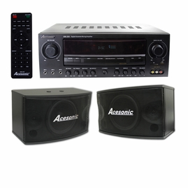 Acesonic AM-200 960W Bluetooth Karaoke Amplifier + SP-450 Speaker Package