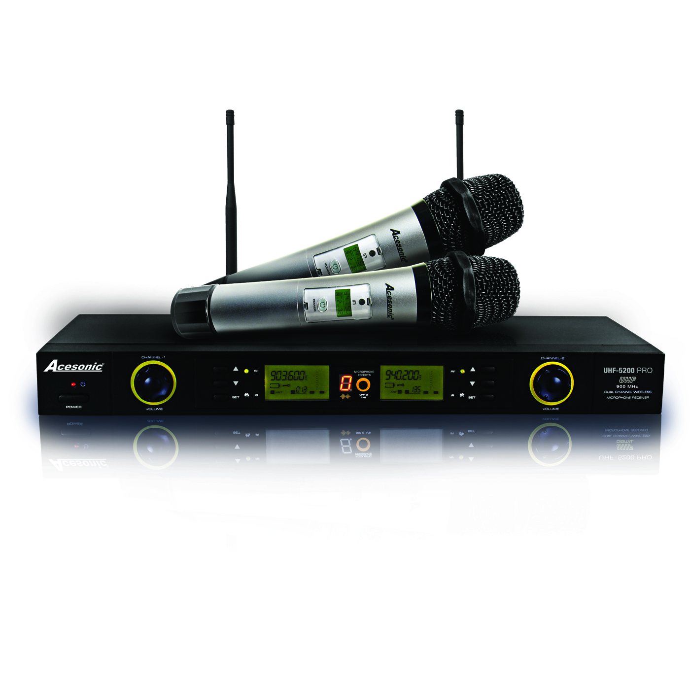 acesonic am 200 karaoke amplifier acesonic sp 450 speaker uhf 5200 pro microphone system with. Black Bedroom Furniture Sets. Home Design Ideas