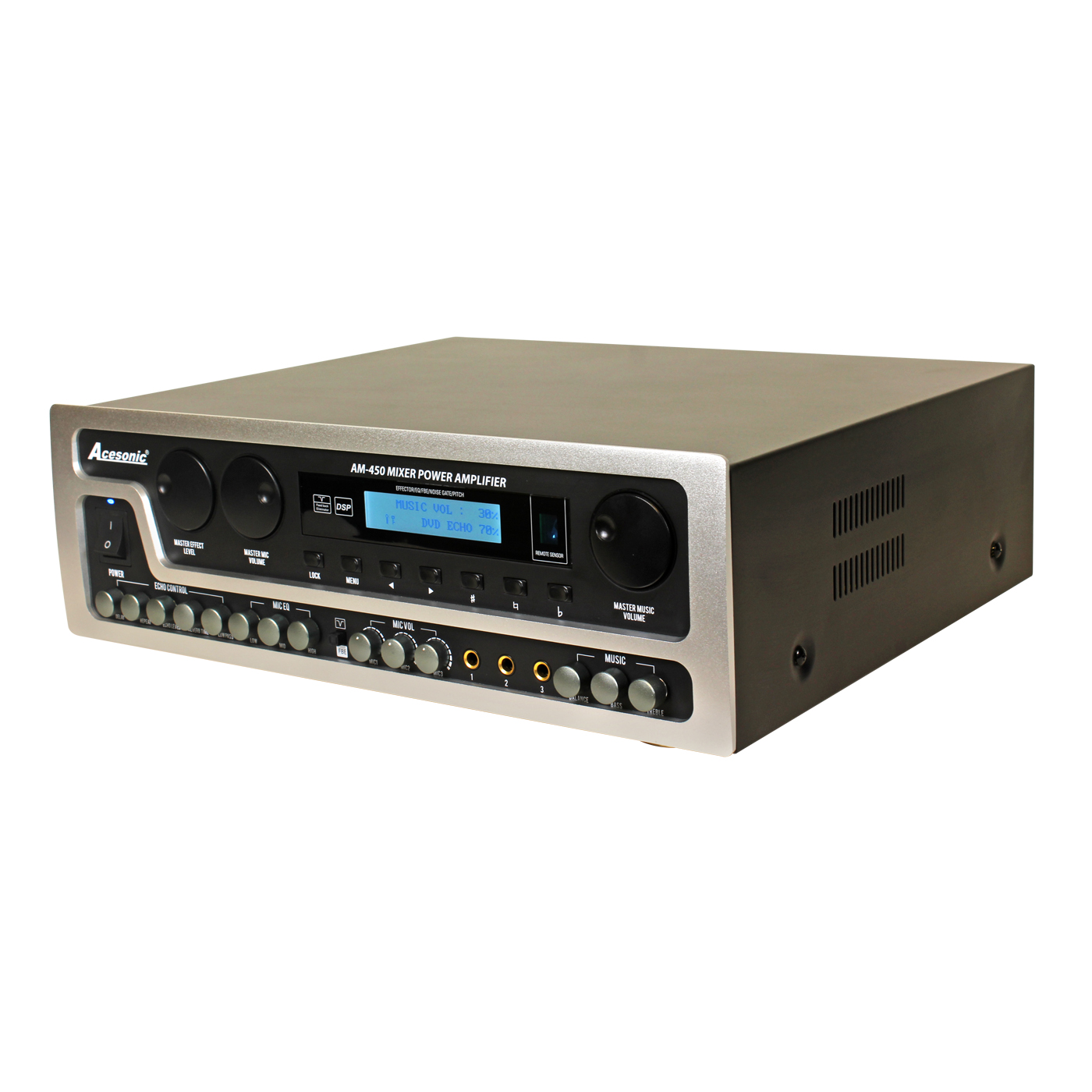 Acesonic AM-450 800W Power Mixing Amplifier, 4-Channel