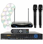 Acesonic BDK-2000 Blu-Ray Multimedia Karaoke Player with UHF-200 Wireless Mics