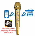 Acesonic RadioStar Karaoke Microphone with Bluetooth