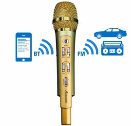 Acesonic RadioStar Karaoke Microphone with Bluetooth Receiver & FM Transmitter! Use with your Smartphone!