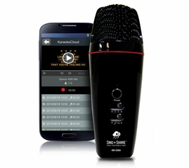 Acesonic Sing n Share Pro Portable Microphone for Android (Black)