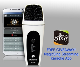 Acesonic Sing n Share Pro Portable Microphone for Android (White)