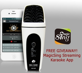 Acesonic Sing n Share Pro Portable Microphone for iOS (White)