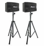 Acesonic SP-450 300W Professional Vocal Speakers & Stands (Pair)