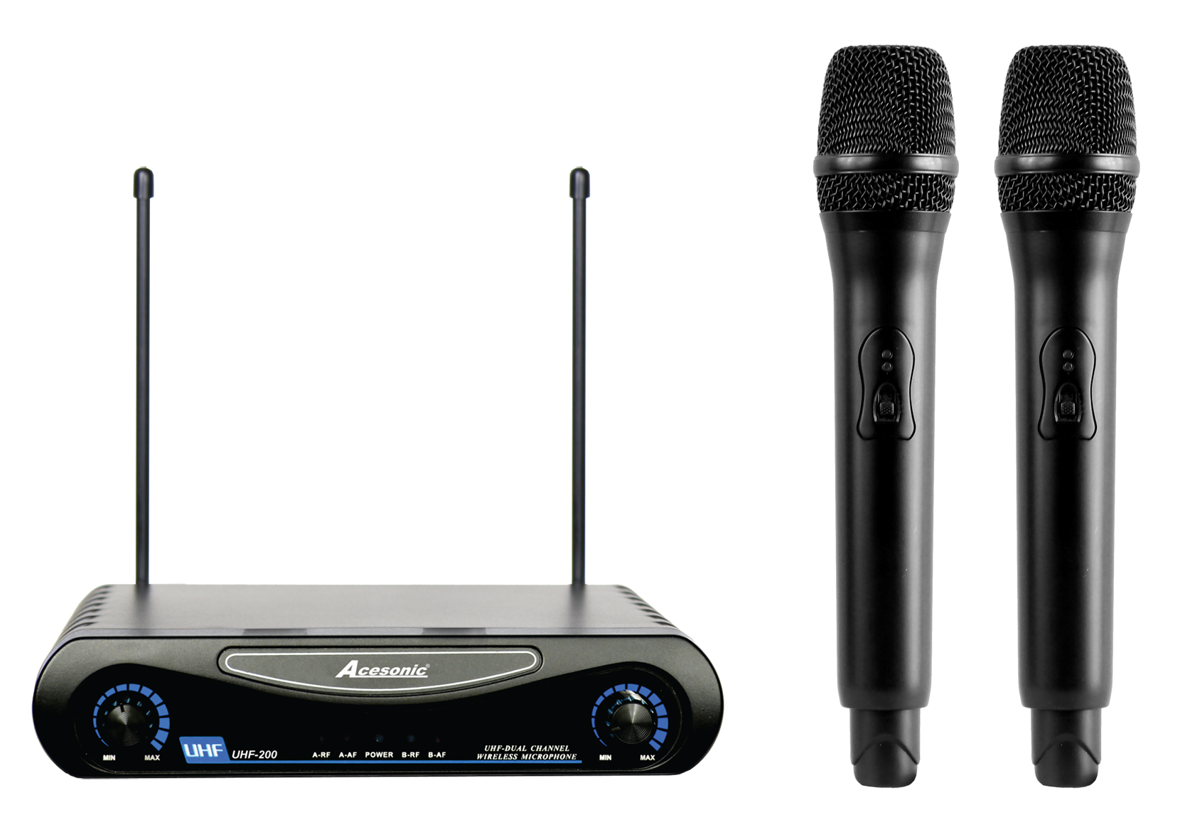 acesonic uhf 200 dual wireless microphone system. Black Bedroom Furniture Sets. Home Design Ideas