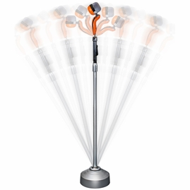Acesonic UHF-BBSI30 Rock-N-Roll Wireless Microphone With Stand and Heavy-Duty Mobile Base (Orange)