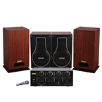 BMB Advanced Package 200W Bluetooth Amplifier with Vocal Speakers & Subwoofer