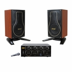 BMB Basic Package 200W Bluetooth Amplifier & 3-Way Vocal Speakers