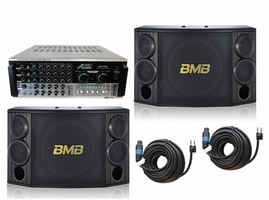BMB CSD-880 1000W with Audio 2000's AKJ7406 Mixing Amplifier