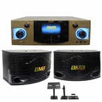 "BMB DAS-300 Amplifier & CSN-500 Speaker System, 600W Max, 10"" 3-Way Speakers"