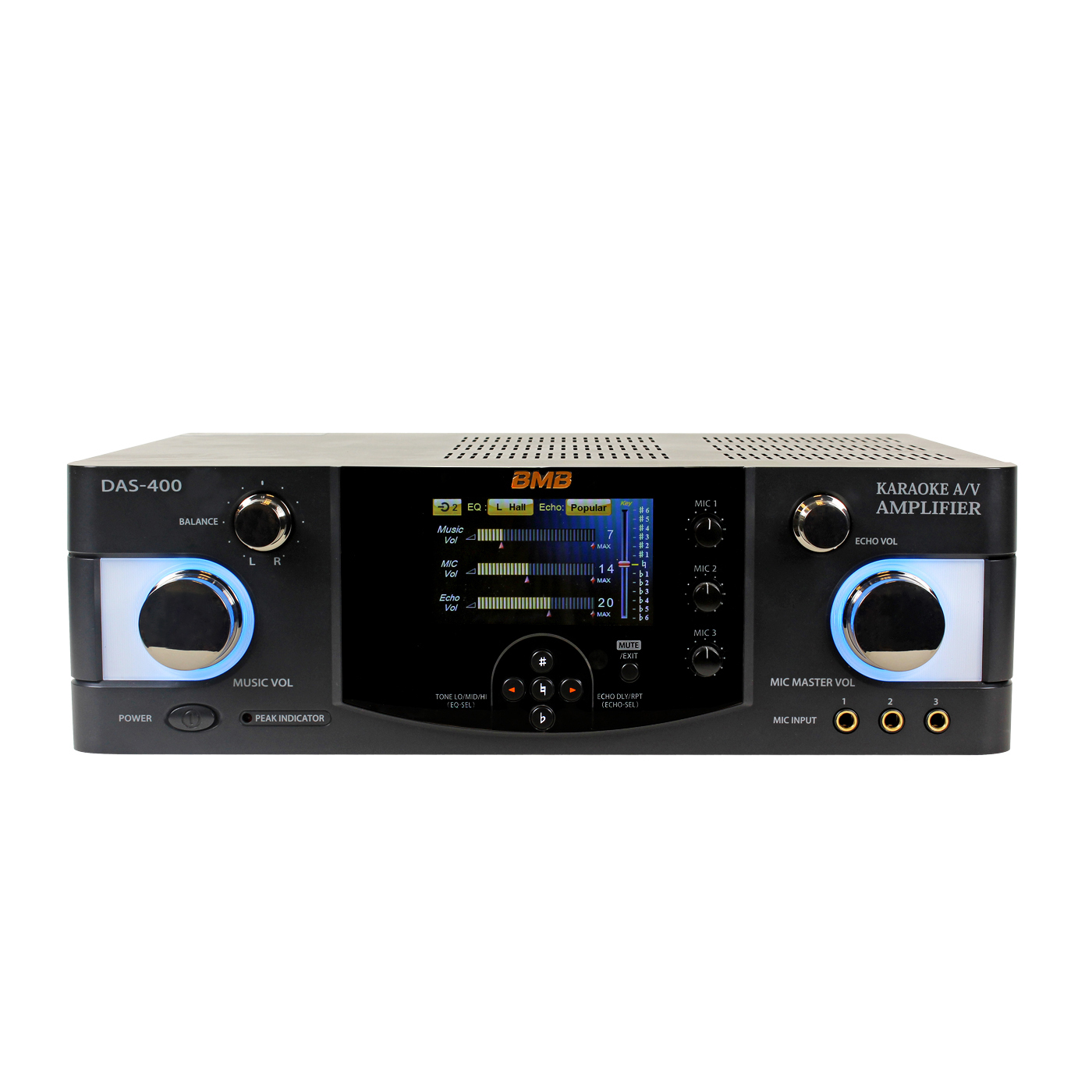 BMB DAS-400 600 Watts Karaoke 4 Channels Amplifier with BMB CSV-450 Speaker  with Stands