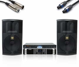 BMB/Yamaha 1200W Sound System with KSP-100 Sound Processor, Uses BMB CSP-5000 Pro Speakers!