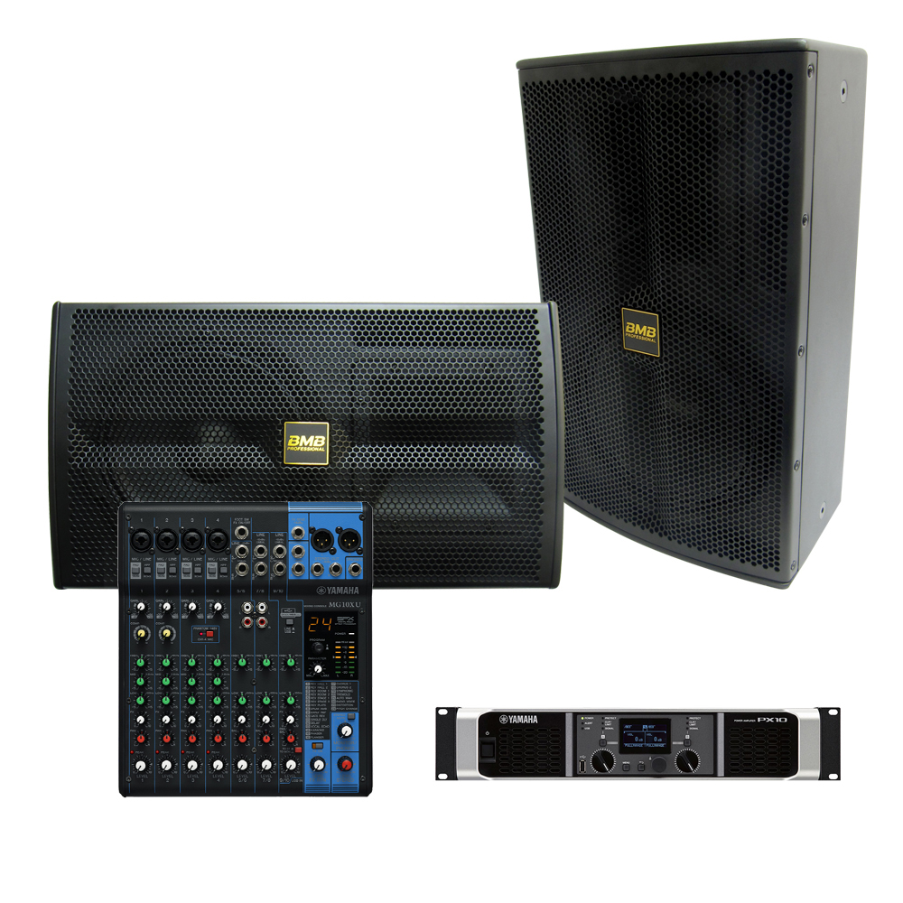 Bmb yamaha 2 000w sound system with mg10xu mixer for Yamaha sound system