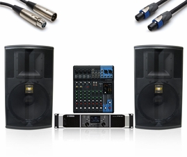 BMB / Yamaha 1200W Sound System with MG10XU Mixer, Uses BMB CSP-5000 Pro Speakers!