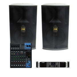 BMB / Yamaha 1,000W Sound System with MG10XU Mixer, Uses BMB CSP-3000 Pro Speakers!