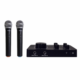 Hisonic HS223 2-in-1 HDMI Karaoke Mixer & Dual UHF Cordless Microphone System with Bluetooth Input