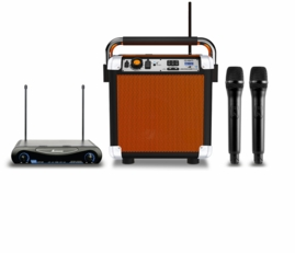 Ion Audio Job Rocker Jobsite Speaker with Dual Wireless Mics Bluetooth & Dual Power Outlets