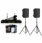 JBL EON-208 with Acesonic UHF-5200 Pro Microphone System and ADJ Fog Fury Jett