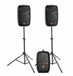 JBL EON206P Portable Powered Speaker System with Samson Stands