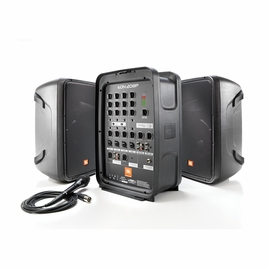 "JBL EON208P 300W Compact PA System 8"", 2-Way Speakers, 8-CH Mixer with Bluetooth & AKG microphone"