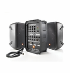 JBL EON208P 300W Powered PA System 8&quote;, 2-Way Speakers, 8-CH Mixer with Bluetooth & AKG microphone