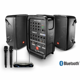 JBL EON208P PA System with UHF-200 Wireless Mics