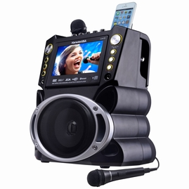 "Karaoke USA GF844 DVD/CDG/MP3G/Bluetooth Karaoke System with 7"" TFT Color Screen with Record"
