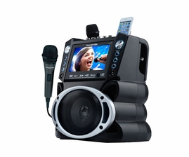 "Karaoke USA GF846 DVD/CDG/MP3G Karaoke System with 7"" TFT Color Screen, Record, Bluetooth and LED Sync Lights  -  <font color=""ff0000""><b>Open Box</b></font>"