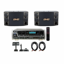 BMB CSD-880 Speaker with Acesonic AM-450 Amplifier, Speaker cable and Wall Mount