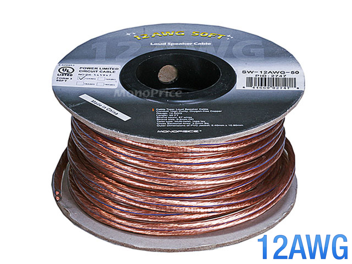 Speaker Wire 50 Ft Center Air Conditioning Computer Board Circuit Mdv J140w Bpy Monoprice 2747 Choice Series 12awg 50ft Rh Acekaraoke Com Feet Rca