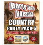 Party Tyme Karaoke CDG - Country Party Pack 6