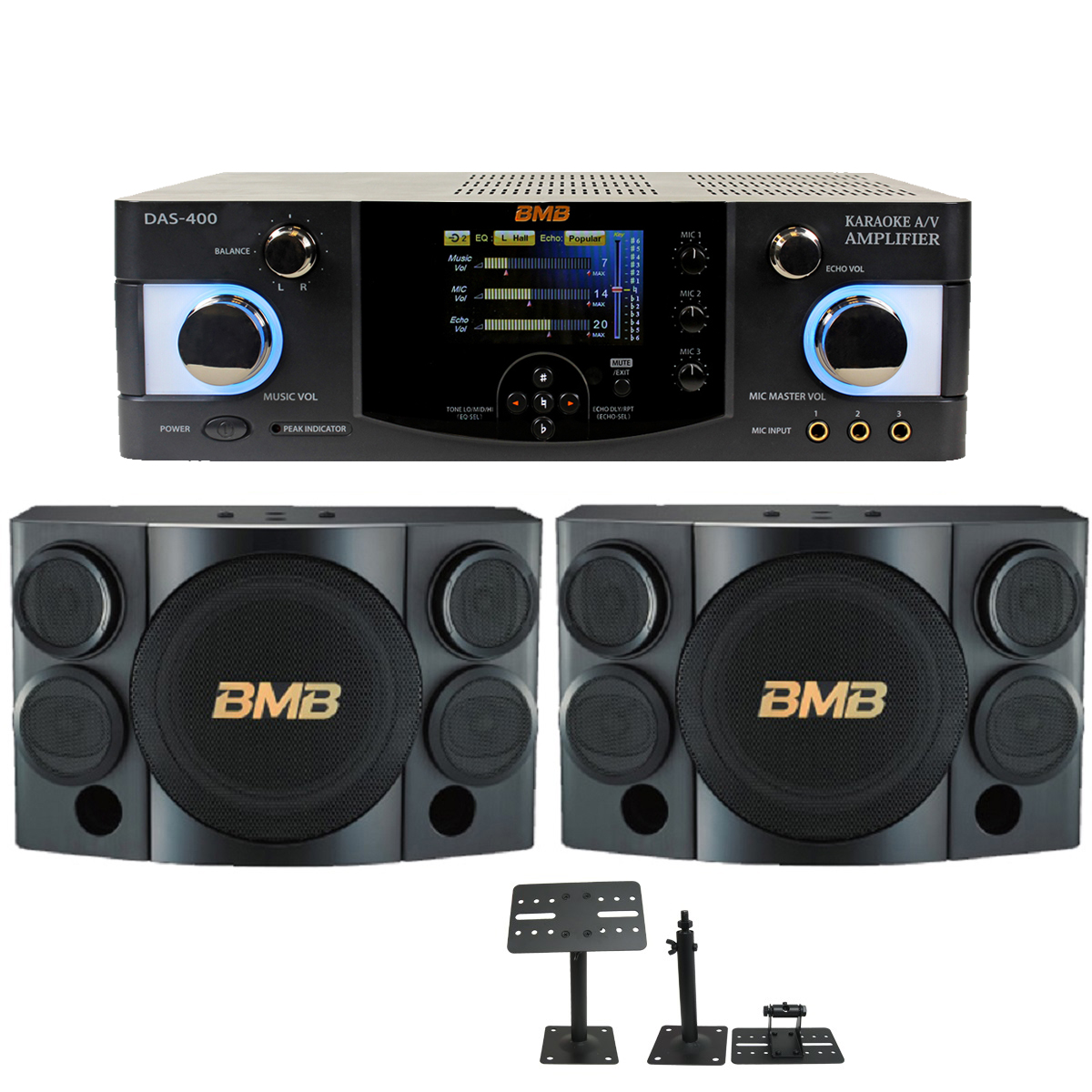 BMB CSE 310 With DAS 400 600 Watts Amplifier Speaker Cable Wall Mount